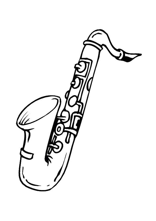 Coloriage et dessins gratuits Saxophone à imprimer