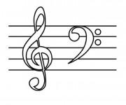 Coloriage et dessins gratuit Tableau de musique à imprimer