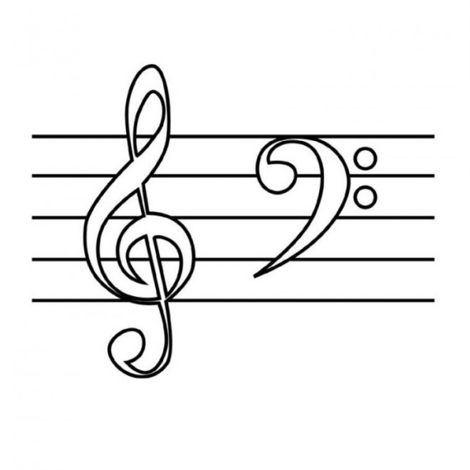Coloriage et dessins gratuits Tableau de musique à imprimer