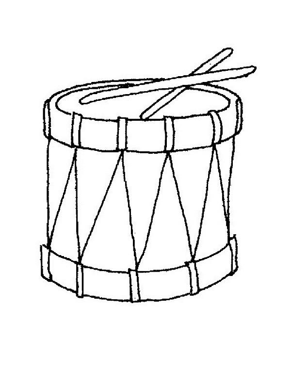 Coloriage et dessins gratuits Un tambour à imprimer