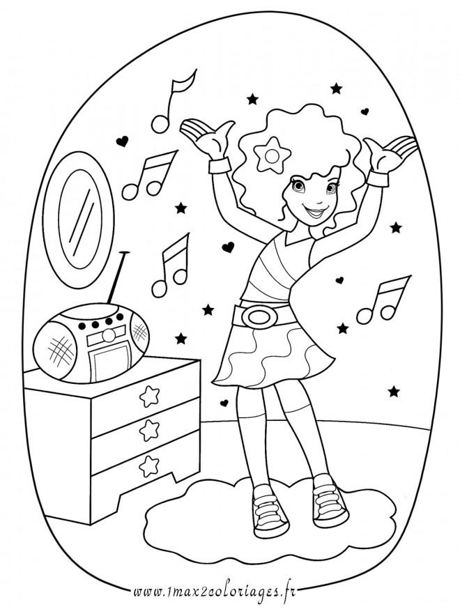 Coloriage une fille coute la musique dessin gratuit imprimer - Coloriage musique a imprimer ...