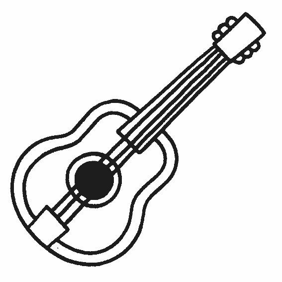 Coloriage Une Guitare Dessin Gratuit à Imprimer