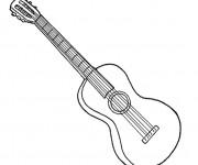 Coloriage et dessins gratuit Une guitare classique à imprimer