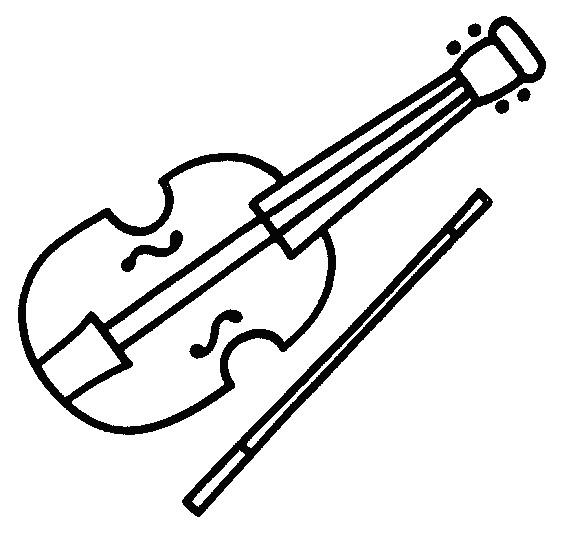 Coloriage et dessins gratuits Violon à deux cordes à imprimer