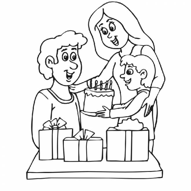 Coloriage et dessins gratuits Bonne fête Papa à imprimer