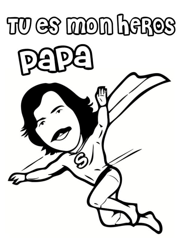 Coloriage et dessins gratuits Héro Papa à imprimer
