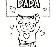 Coloriage et dessins gratuit Image pour papa à imprimer