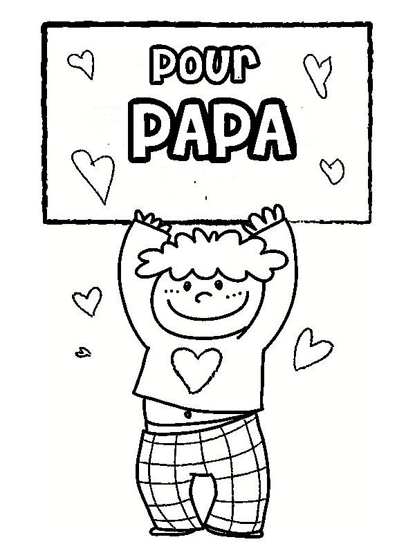 Coloriage Image pour papa dessin gratuit à imprimer