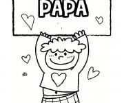Coloriage dessin  Papa 1