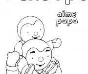 Coloriage dessin  Papa 12