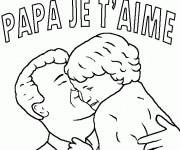 Coloriage dessin  Papa 14