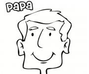 Coloriage dessin  Papa 2