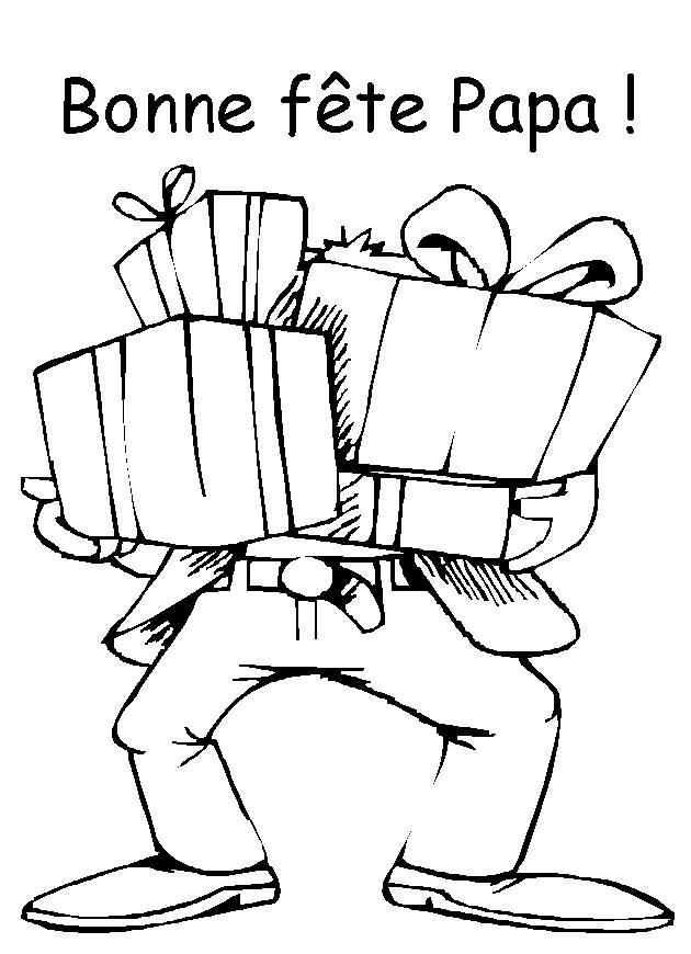 Coloriage et dessins gratuits Papa anniversaire à imprimer