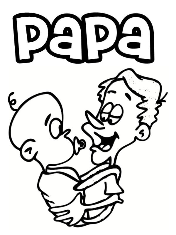 Coloriage et dessins gratuits Papa et bébé à imprimer
