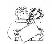 Coloriage et dessins gratuit Papa et cadeau à imprimer