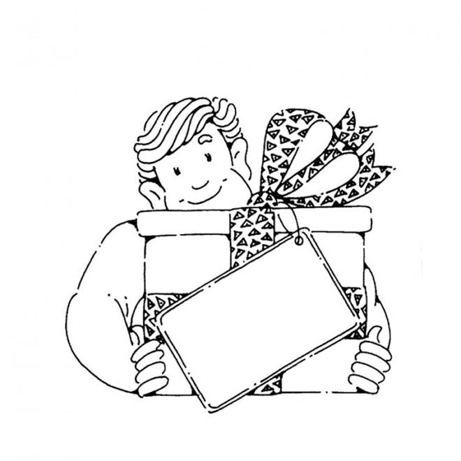 Coloriage papa et cadeau dessin gratuit imprimer - Dessin d anniversaire pour papa ...