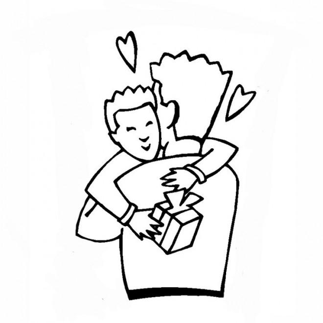 Coloriage et dessins gratuits Papa et enfant à imprimer