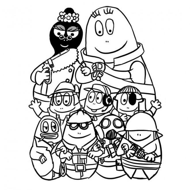 Coloriage Papa et famille dessin dessin gratuit à imprimer