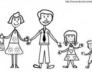 Coloriage et dessins gratuit Papa et la famille à imprimer