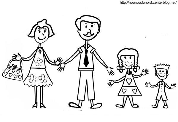Coloriage et dessins gratuits Papa et la famille à imprimer