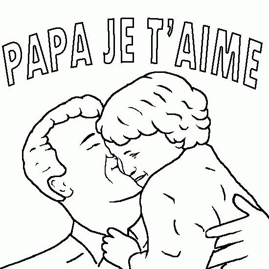 Coloriage Papa Et Sa Fille Facile Dessin Gratuit à Imprimer
