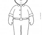 Coloriage et dessins gratuit Tchoupi papa à imprimer