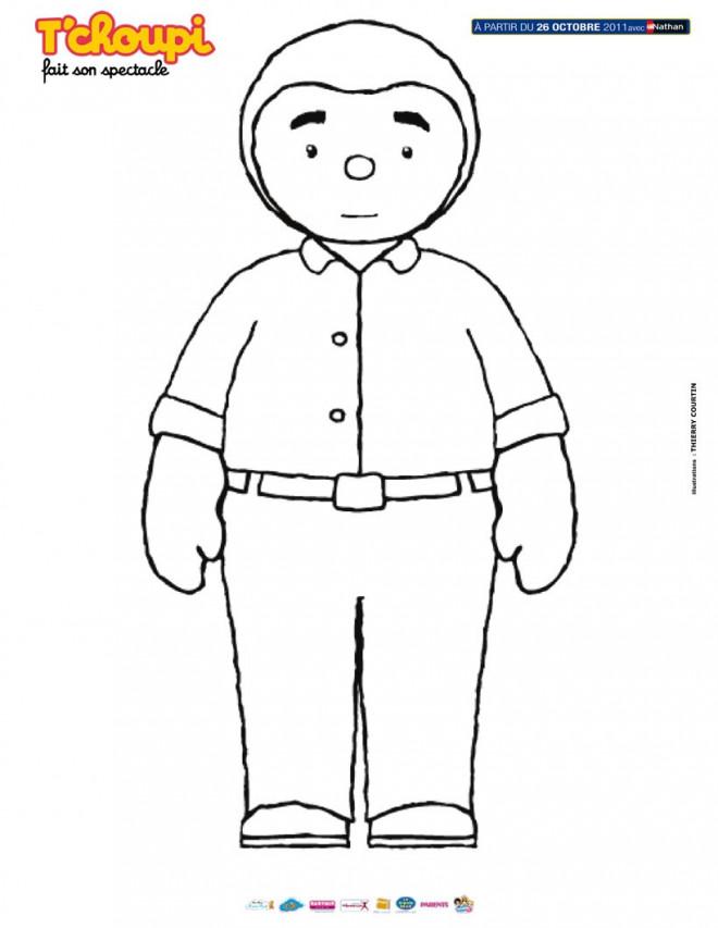 Coloriage et dessins gratuits Tchoupi papa à imprimer