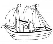 Coloriage Barque de Pêche