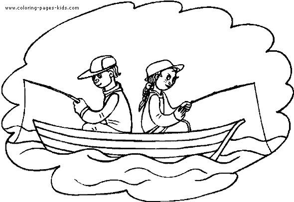 Coloriage barque de p cheur dessin gratuit imprimer - Coloriage pecheur ...