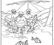 Coloriage et dessins gratuit Bateau de pêche facile à imprimer