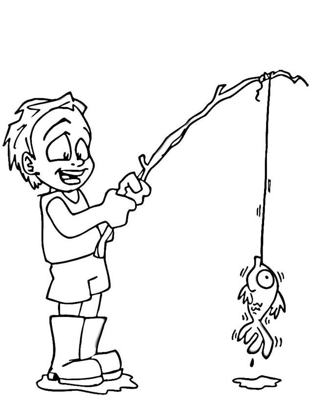 Coloriage enfant p che dessin gratuit imprimer - Coloriage pecheur ...