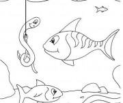 Coloriage et dessins gratuit Pêcherie des poissons à imprimer