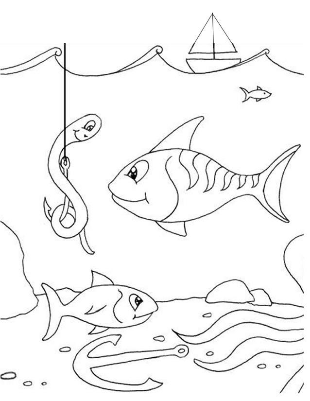 Coloriage et dessins gratuits Pêcherie des poissons à imprimer