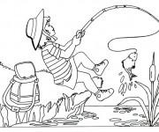 Coloriage et dessins gratuit Pêcheur dessin couleur à imprimer