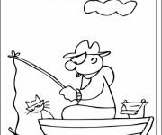 Coloriage Pêcheur dessin en ligne