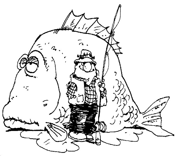 Coloriage p cheur et gros poisson dessin gratuit imprimer - Coloriage pecheur ...
