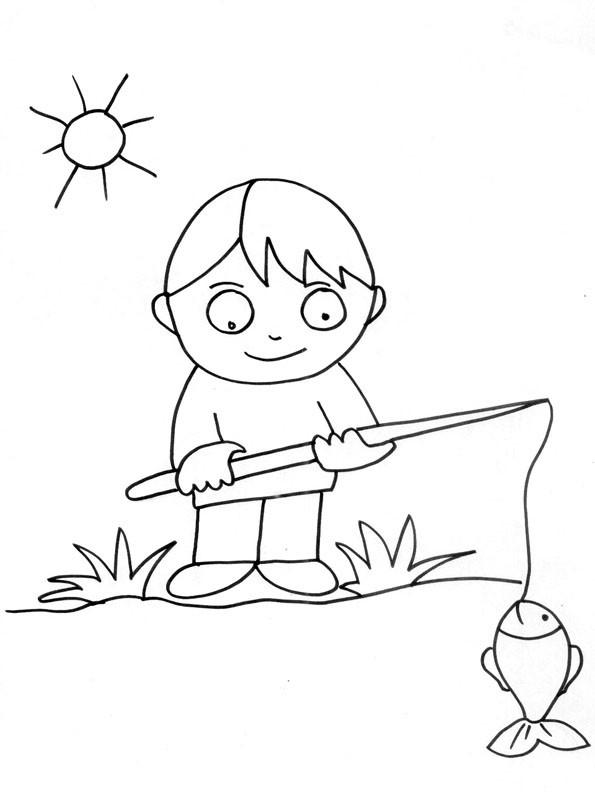 Coloriage et dessins gratuits Pêcheur  gratuit à imprimer