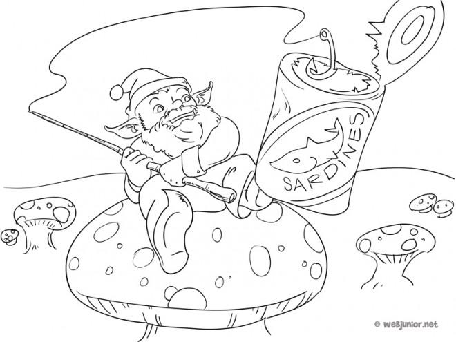 Coloriage et dessins gratuits pêcheur malchanceux à imprimer