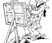 Coloriage Artiste et tableaux