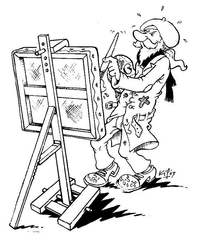 Coloriage et dessins gratuits Artiste et tableaux à imprimer