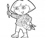 Coloriage et dessins gratuit Dora Peintre à imprimer