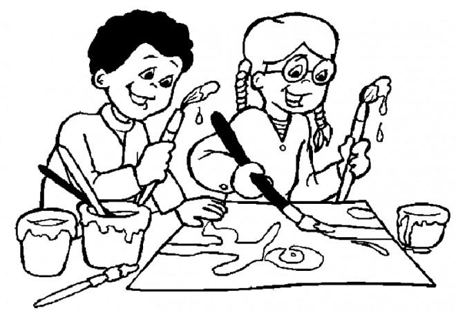 Coloriage et dessins gratuits Enfants dessinent à imprimer