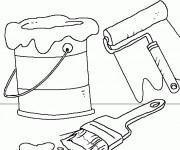 Coloriage et dessins gratuit Outils de peintre à imprimer