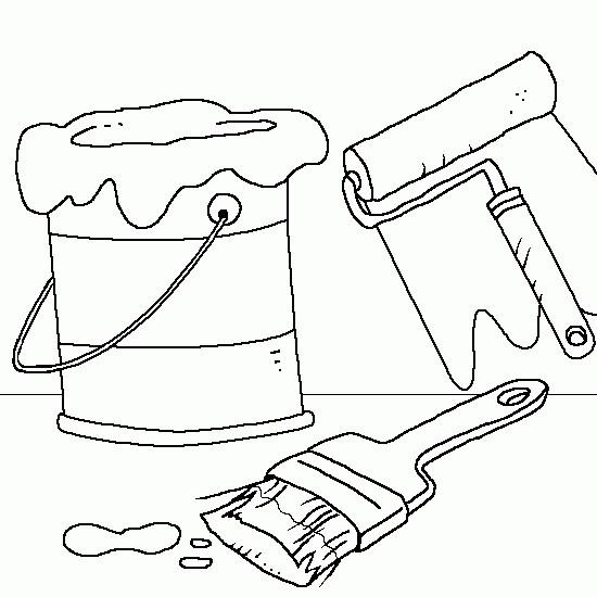 Coloriage et dessins gratuits Outils de peintre à imprimer