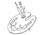 Coloriage et dessins gratuit Palette de peintre à imprimer