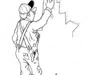 Coloriage et dessins gratuit Peintre bâtiment à imprimer