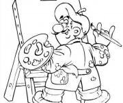 Coloriage et dessins gratuit Peintre en ligne à imprimer