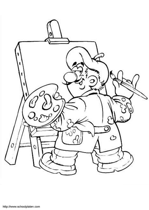 Coloriage et dessins gratuits Peintre en ligne à imprimer
