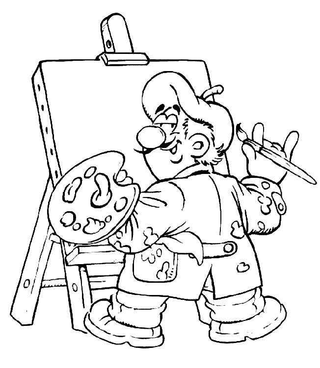 Coloriage et dessins gratuits Peintre pour enfant à imprimer