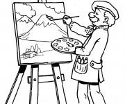 Coloriage et dessins gratuit Tableau peinture à imprimer